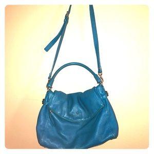 Blue Kate spade pebbled leather handbag